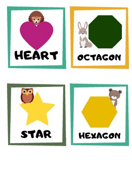 Forest Shape Cards