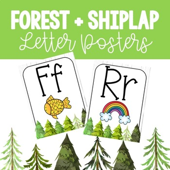 Forest + Shiplap Letter Posters