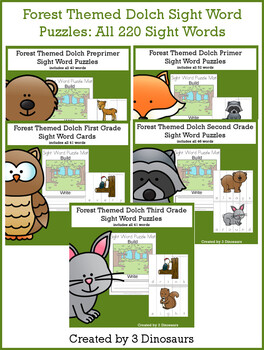 Forest Sight Word Bundle