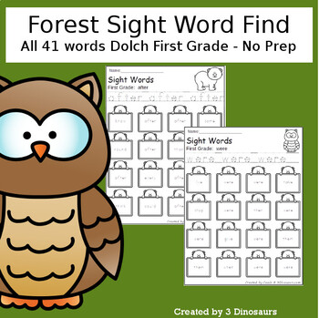 Forest Sight Word Find (The Bundle)