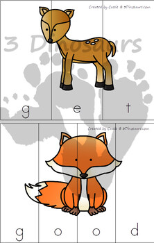 Forest Sight Word Puzzles (The Bundle)