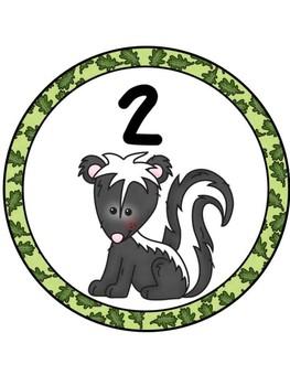 Forest Table Numbers 1-8 (Bonus numbers 1-30)
