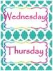 Forest Theme Classroom Daily Calendar