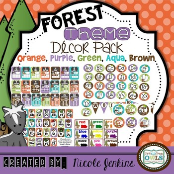 Forest Theme Decor Pack (Orange,Purple, Blue, Green, Brown)
