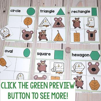 Forest Theme Printable Math & Literacy Activities Pre-K, Preschool, Kindergarten