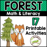 Forest Theme Printable Math & Literacy Activities Pre-K, P