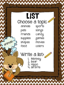 Forest Theme Writing Choice Board Pack (Blue, Green, Brown)
