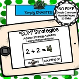 Forest Themed Addition Strategy Activities For GOOGLE CLASSROOM