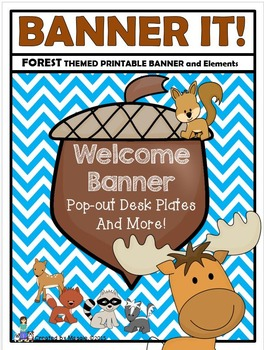 Forest Themed Banner with Authentic Nature Backgrounds