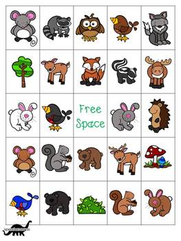 Forest Themed Bingo for Speech and Language Therapy