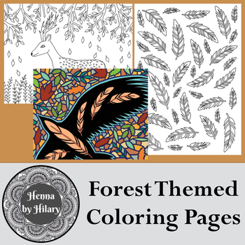 Hand-Drawn Forest Themed Coloring Pages