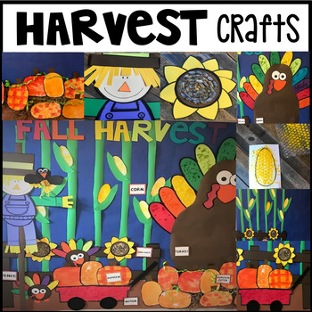 Harvest Themed Crafts for Preschool and Kindergarten with Visual Directions