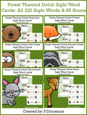 Forest Themed Sight Words & Nouns Cards Bundle