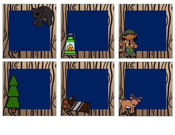 Woodland Animals / Camping Themed Editable Target Dollar Spot Labels
