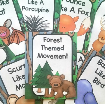Forest Themed Movement Cards