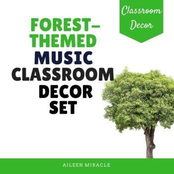 Forest-Themed Music Classroom Decor Set