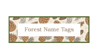 Forest Themed Name Tag