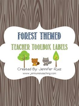Forest Themed Teacher Toolbox