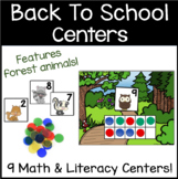 Woodland Animals Centers for Back to School