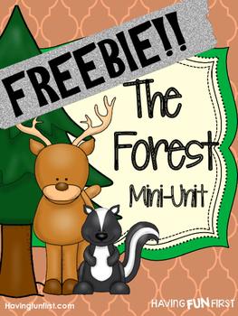 Forest Animals Nonfiction Informational Text Unit FREEBIE