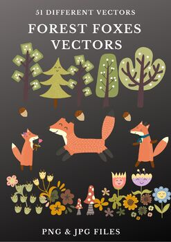 Forest Fox Vector Clipart