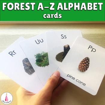 Forest / Woodland A-Z Alphabet Cards MontessoriLove