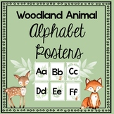 Forest Woodland Animal Alphabet Posters- 2 Versions and Editable!