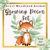 Forest Woodland Animal Theme Classroom Decor MEGA Bundle *GROWING*