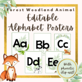 Forest Woodland Animal EDITABLE Alphabet Posters With Phonetic Pictures