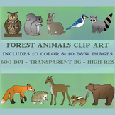 Forest / Woodland Animals Clip Art Set