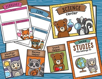 Classroom Decor Pack with Woodland Animals and Forest Animals