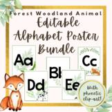 Forest Woodland Editable Alphabet Bundle- With phonetic Clip-art!