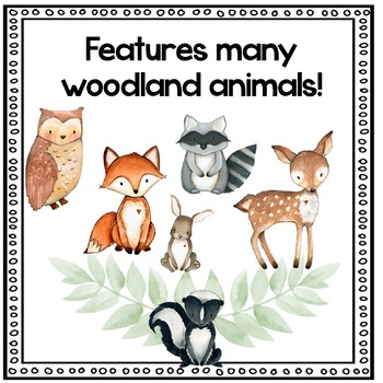 Forest Woodland Editable Name Tags