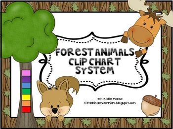 Forest Woodland Theme Complete Clip Chart System