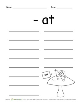 Forest Word Families - ELA morning work or Sub plan activity