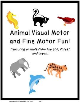 Forest Zoo Ocean Animals Visual Motor & Fine Motor Fun! 25 pgs! prek k 1 2 sped