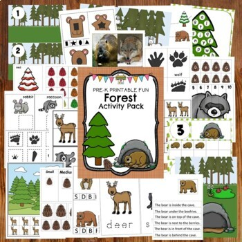 Forest and Bear Activities for Pre-K, Preschool and Tots