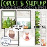 Forest and Shiplap Binder Covers and Spine Labels