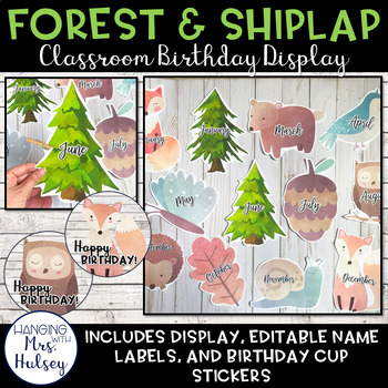 Forest and Shiplap Birthday Display