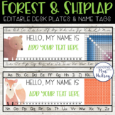 Forest and Shiplap Desk Name Tags