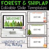 Forest and Shiplap Google Slides Templates Distance Learning