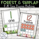 Forest and Shiplap Ten Frame Posters