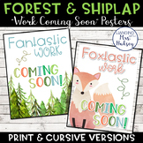 Forest and Shiplap Work Coming Soon Posters