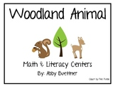 Forest and Woodland Animal Math and Literacy Centers