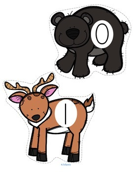 Forest Animals Large Numbers for Counting, Sequencing, Recognition 0-20 FREE