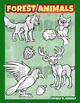 Forest animals clip art collection