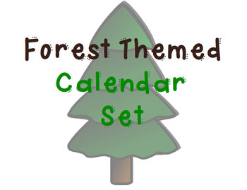 Forest/Camping Themed Calendar Set