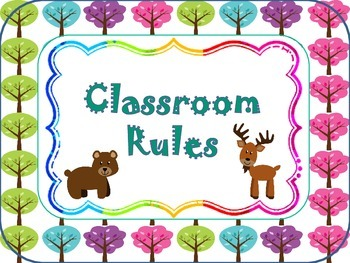 Forest/Tree Theme Class Rules with Pictures