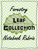Forestry Leaf Collection Notebook Rubric