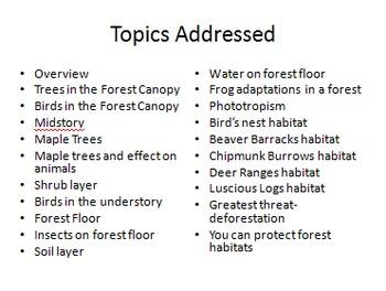 Forests Habitat and Adaptations PDF Presentation